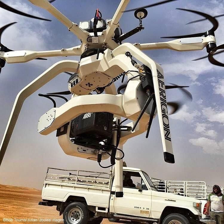 ARRI Alexa Mini Aerigon drone Toyota Land cruiser