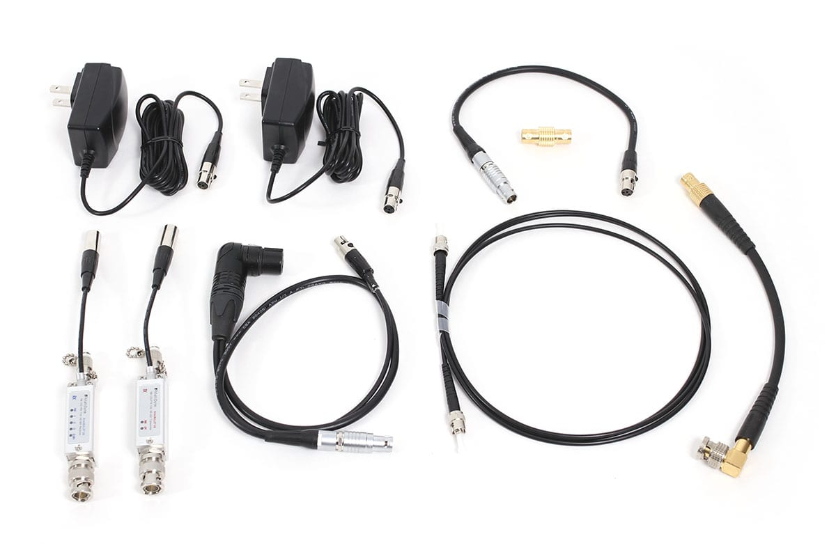 NEWTON stabilized remote head Converter kit - 12 G video to Fiber for SONY P50 etc
