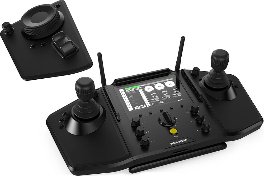 NEWTON C2 remote controller with double joystick for live TV broadcast with moving cameras on stabilized remote heads