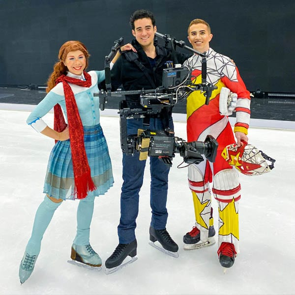Handheld remote controlled and stabilized broadcast camera at Dancing on Ice