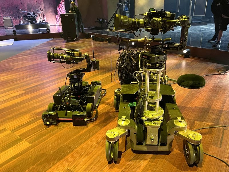 Newton 3-axis stabilized remote head on RTS MagCam remote dolly at Grammy Awards 2021