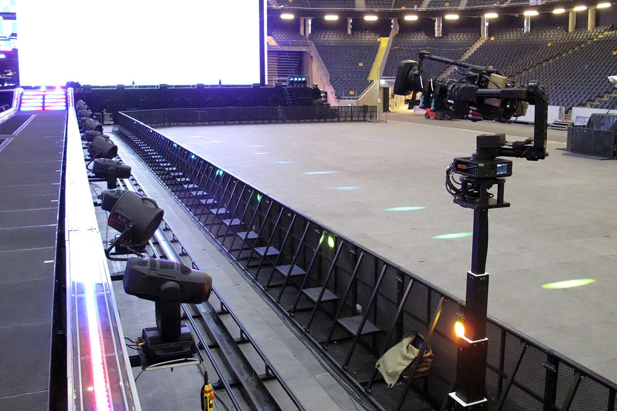 Newton stabilized head telescopic RTS railcam on Beyonce 2018