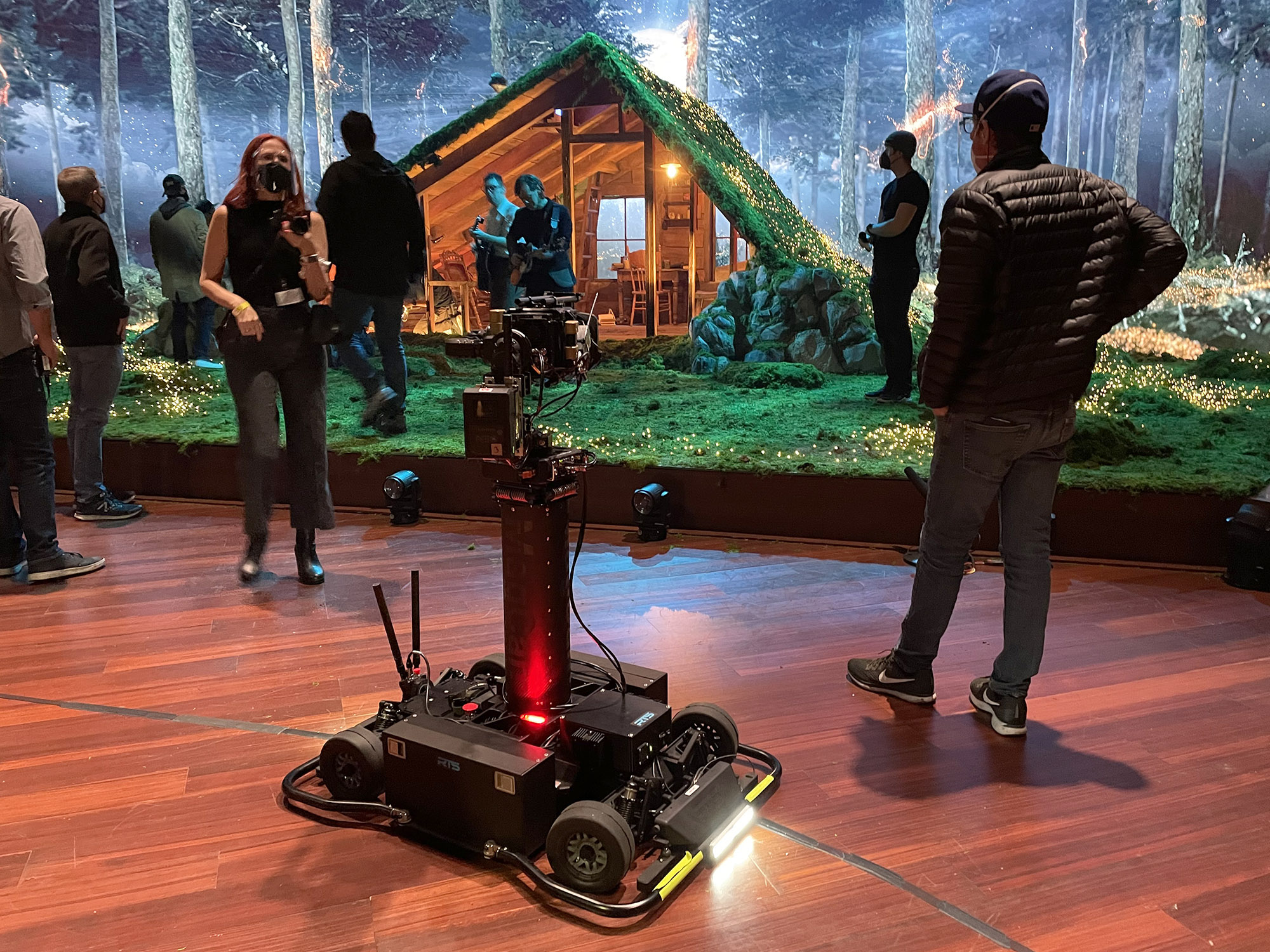 Newton stabilized remote head on RTS MagCam remote dolly at TV broadcast of Grammy Awards