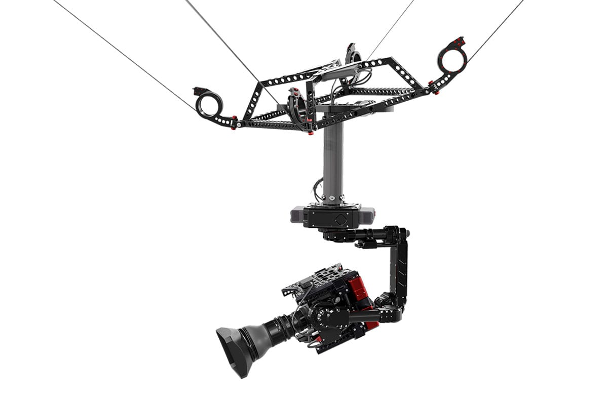 Newton stabilized head on spidercam light 3D cable cam