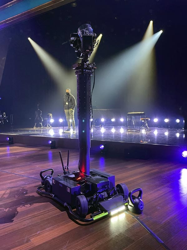 Newton stabilized remote head at TV broadcast of Grammy Awards