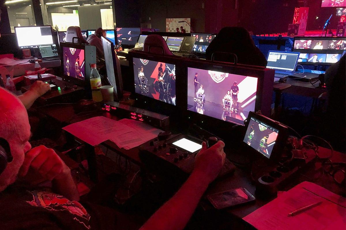 Newton stabilized remote head controller on Spidercam at Gamescom