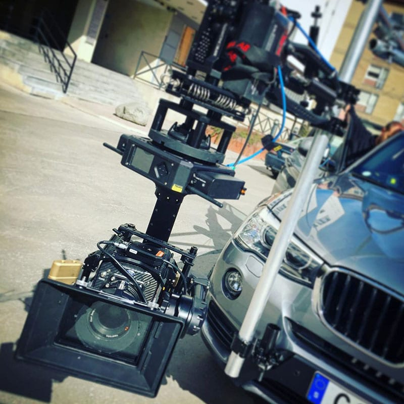 Newton stabilized remote head on flowcine black arm