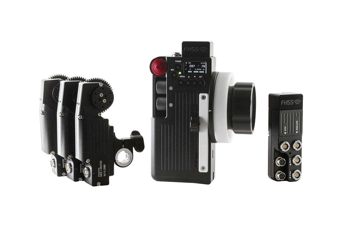 Accessory to NEWTON stabilized remote camera head - Teradek RT lens motors