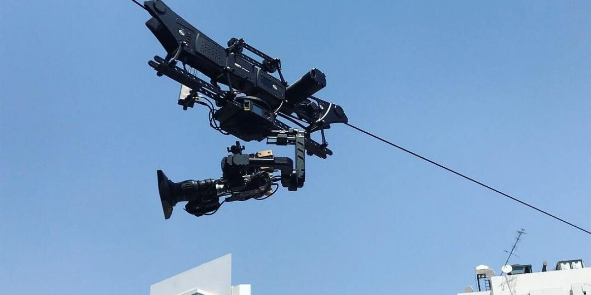 NEWTON stabilized head on DEFY Dactylcam cable cam