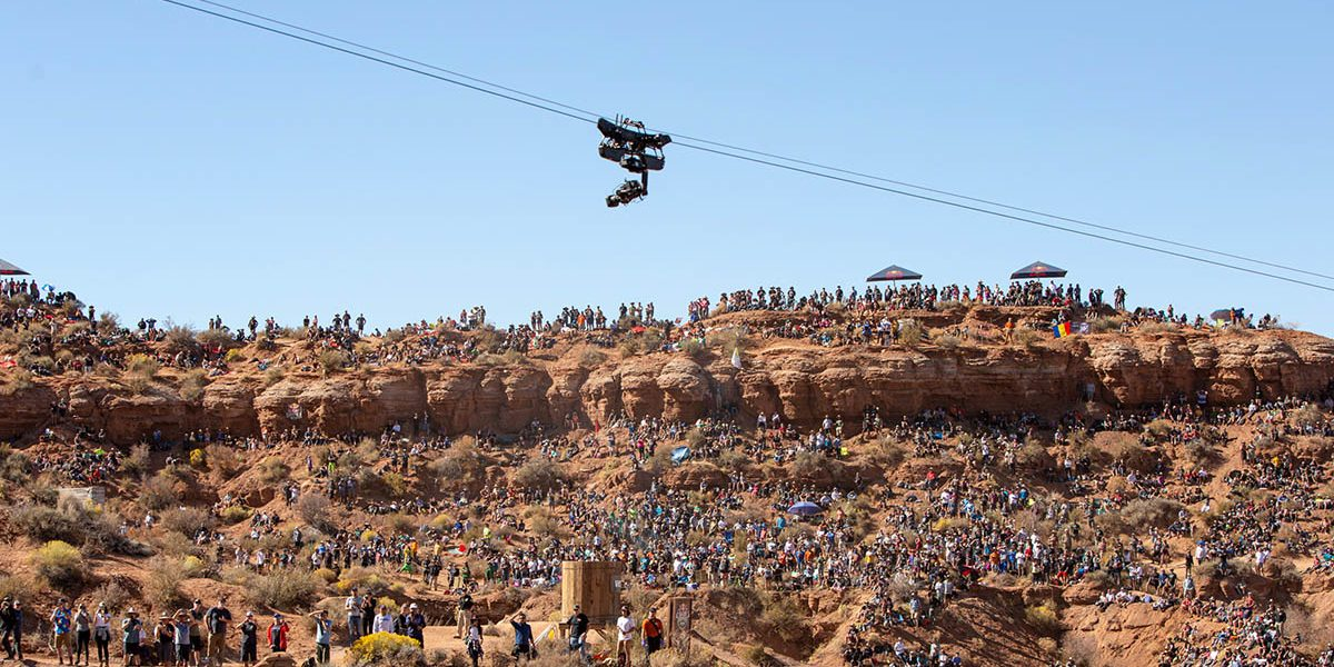 NEWTON stabilized head on cable cam on Red Bull Rampage